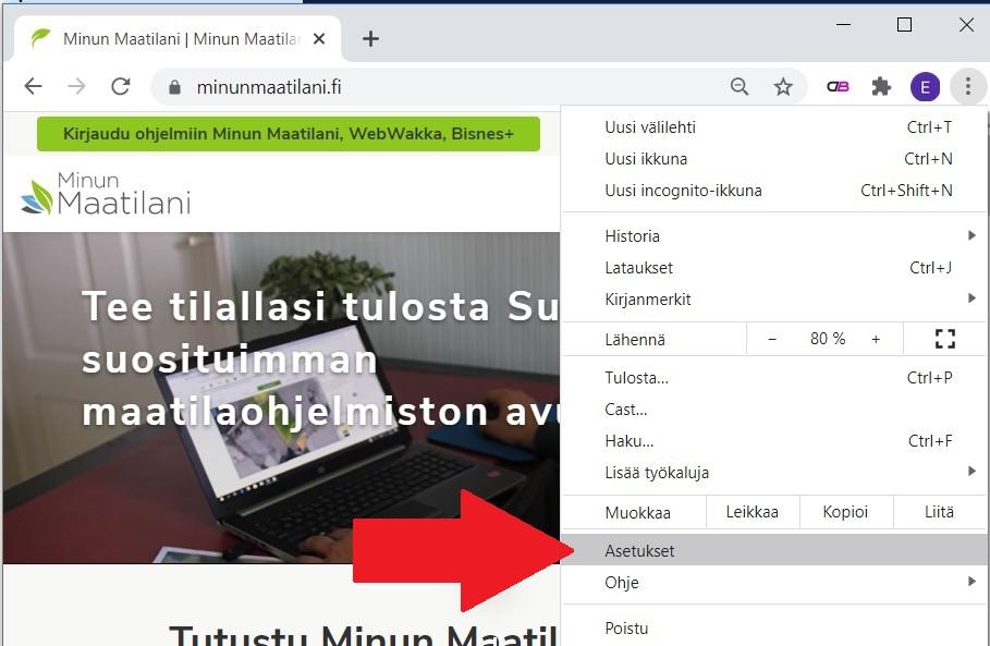 Google Chromen välimuistin tyhjentäminen