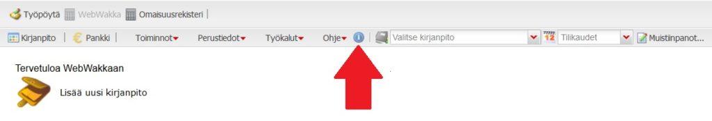 WebWakka -kirjanpito-ohjelman ohjeet löytyvät sovelluksen sisältä.
