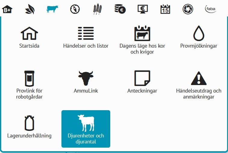 Djurenheter och djurantal min gård